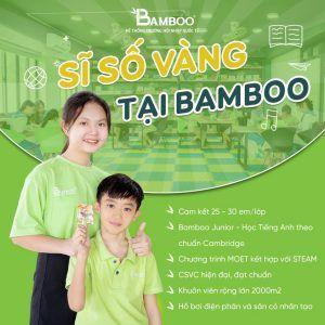 Sĩ số vàng tại Bamboo School